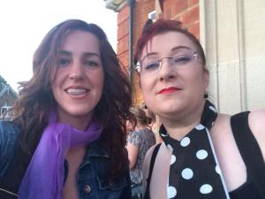 I feel this photo taken 8th June 2014 shows the angle of the top jaw being lower on one side quite clearly. (i do love standing next to Natasha, she makes me look very tanned! lol x)